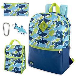 Boy's 5 in 1 Full Size Backpack Set