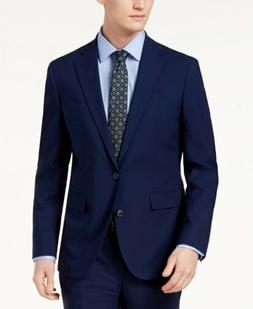 $1000 COLE HAAN 42R Men Slim Fit Wool 2-PIECE Suit BLUE COAT