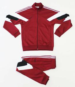 $170 NWT ADIDAS Palmeston Men's Burgundy Track Suit Set Jack
