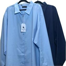 2 pc Alex Vando Mens Dress Shirts Regular Fit Long Sleeve Bl