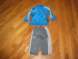 Adidas 2 Piece Boys Blue Size 12 Months Outfit Jacket Pants
