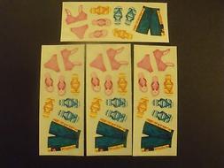 2 x 5 stickers swim suits flip