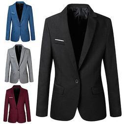 2018Casual Men's Slim Fit Formal One Button Suit Blazer Coat