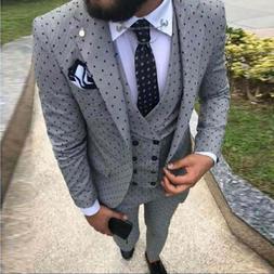 2019 Men's Poika dot <font><b>Suit</b></font> 3-Pieces lates