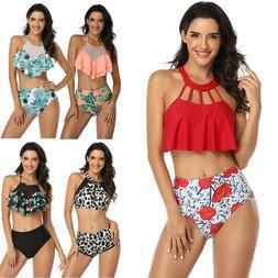 2020 Women Push Up Padded Bikini Set High Waisted Swimsuit B