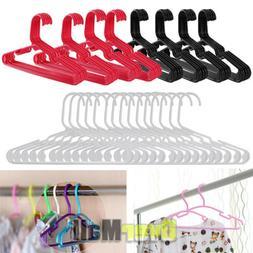 20x Baby Hangers Children's Kids Plastic Clothes Hangers Lot