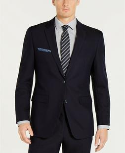 $275 Perry Ellis Slim-Fit Comfort Stretch Navy Blue Solid Su