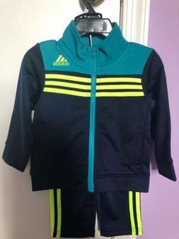 Adidas 3 stripe Boys Athletic 2 Piece Track Suit in Navy Siz