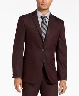 $300 Van Heusen Flex Men's Burgundy Slim Fit Suit Sport Coat