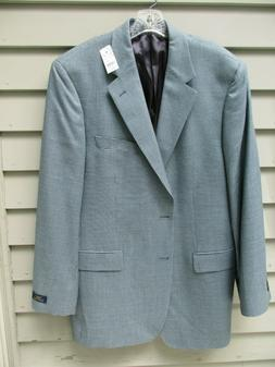 Brooks Brothers 346 mens brown blue wool silk sports coat bl
