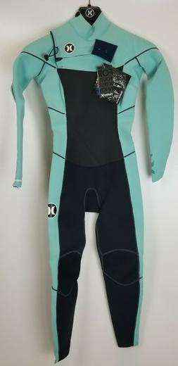 $380 Womens Hurley Phantom 202 Full Suit Wetsuit Black Teal
