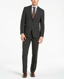 $395 Van Heusen Flex Men's Slim-Fit Suit 46L / 39 x 33 Charc