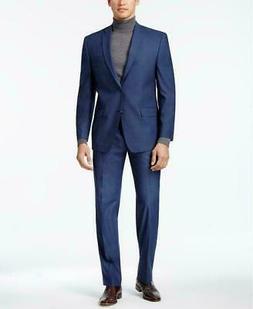 $395 Andrew Marc Men's Classic Fit Stretch Blue Neat 2 PC Su