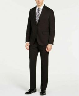 $395 Dockers Men's Classic-Fit Stripe Suit 40S / 33 x 30 Bla