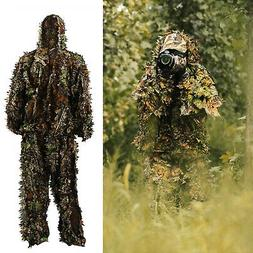 3D Ghillie Suit Set Sniper Train Leaf Jungle Forest Wood Hun