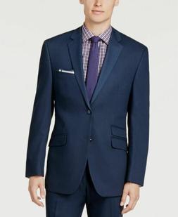 $415 Perry Ellis Portfolio 46R Men's Blue Slim Fit Suit Coat