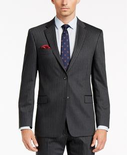 $425Tommy Hilfiger 36RMen's Slim Fit Gray Wool Striped S