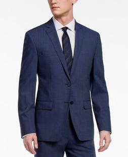 $425 Calvin Klein Skinny Fit Infinite Stretch Navy Neat Suit