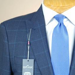 44L SAVILE ROW Blue Check SUIT SEPARATE  44 Long Mens Suits