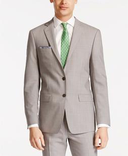 $450 Calvin Klein Infinite Stretch Light Grey Slim-Fit Suit