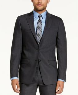 450 slim fit gray blue plaid suit