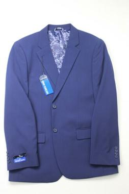 $495 Nautica Solid Modern-Fit Suit 40R / 34 x 32 Navy Blue F