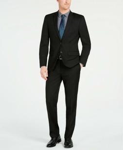 $500 Van Heusen Slim Flex Stretch Wrinkle-Resistant Black Su