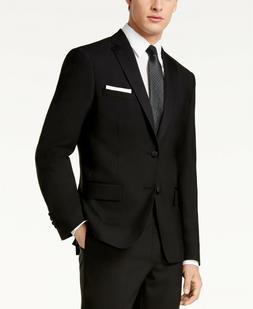 $525 DKNY Dabney Slim-Fit Black Tuxedo Suit Jacket Mens 36S