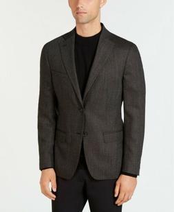 $549 Dkny Men's 42R Brown Slim Fit Wool Diamond Blazer Sport
