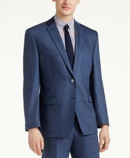 $550 CALVIN KLEIN 54R Men's BLUE MODERN FIT BIG & TALL WOOL