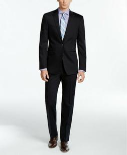 $600 Calvin Klein Dark Navy Solid Slim X Fit Suit 36S / 29W