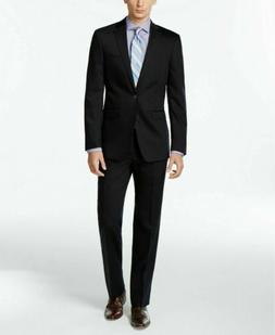 $600 Calvin Klein Navy Solid Slim X Fit Suit 42R / 35W Flat