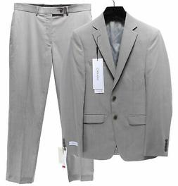 CALVIN KLEIN $625 NEW 2972 100% Wool X-Slim Fit Mens 2PC Sui