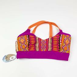 $65 NWT Prana Multicolor Vibrant Liliana Bathing Suit Top ON