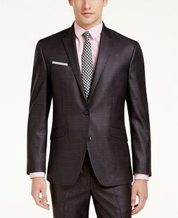 $650 Kenneth Cole Reaction 40 R Men'S Gray Slim Fit 2 Piece