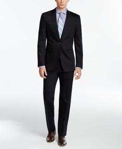 $650 CALVIN KLEIN Extreme Slim Fit Wool Blazer Blue SUIT JAC