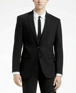 $815 CALVIN KLEIN Men Extreme Slim X Fit Wool Suit Black 2 P