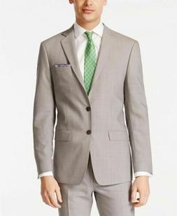 $650 Calvin Klein X-Fit Solid Slim Fit 2 PC Suit 36S / 30 x