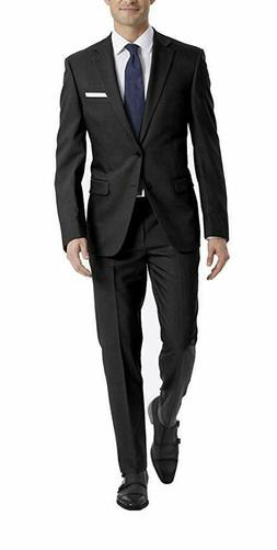 $700 Calvin Klein X Fit Slim Fit 2 PC Suit 40R / 32 x 32 Sol