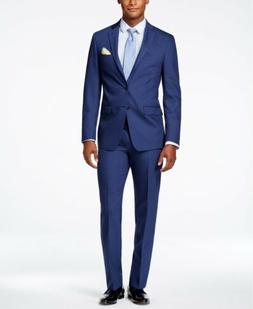 $759 CALVIN KLEIN Men's BLUE WOOL EXTREME SLIM FIT SUIT JACK