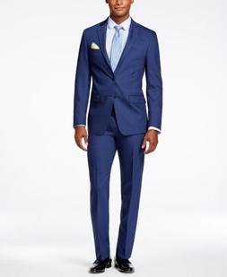 $769 CALVIN KLEIN Men's BLUE WOOL EXTREME SLIM FIT SUIT JACK
