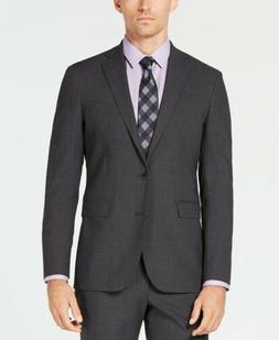 $785 Cole Haan Men'S 40r Slim Fit Wool Suit Gray Solid Sport