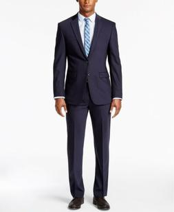 $789 CALVIN KLEIN Men's BLUE EXTREME SLIM FIT WOOL SUIT JACK