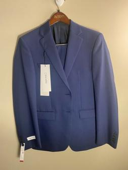 $799 CALVIN KLEIN Men's BLUE WOOL EXTREME SLIM FIT SUIT JACK
