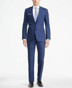 $850 CALVIN KLEIN 42S Men's BLUE X SLIM FIT 2 PIECE WOOL SUI