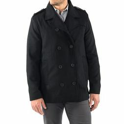 Alpine Swiss Jake Mens Pea Coat Wool Blend Double Breasted D