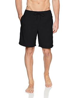 """Amazon Essentials Men's Quick-Dry Solid 9"""" Swim Trunk, Black"""