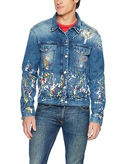Calvin Klein Jeans Men's Denim Trucker Jacket, Sterling Blue
