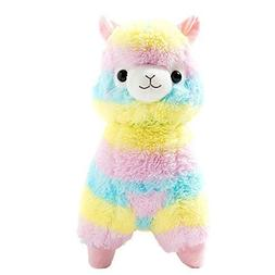 "Cuddly Llama Rainbow Alpaca Doll 7"" Soft Baby Stuffed Animal"