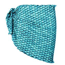 Fin Fun Mermaid Girls Swimsuit Sarong Cover Up - Tidal Teal